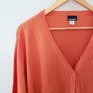 Basic Editions || Plus Orange Cardigan Sweater